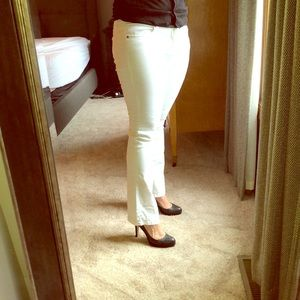 Cabi bootcut white jeans